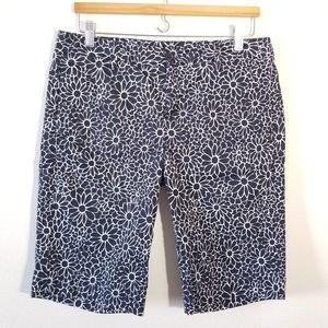 Floral shorts Tommy Hilfiger black white 10
